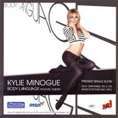 FLYER BODY LANGUAGE / KYLIE MINOGUE / FRANCE