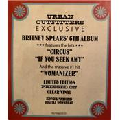 CIRCUS / BRITNEY SPEARS / LP 33 TOURS VINYLE CLEAR / URBAN OUTFITTERS USA 2019