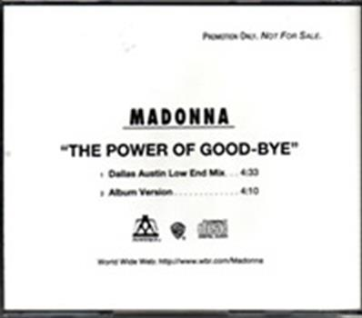 THE POWER OF GOODBYE / CDS PROMO USA