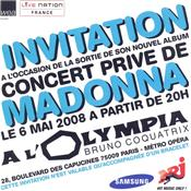 FLYER HARD CANDY / INVITATION OLYMPIA PARIS 6 MAI 2008 / PROMO FRANCE
