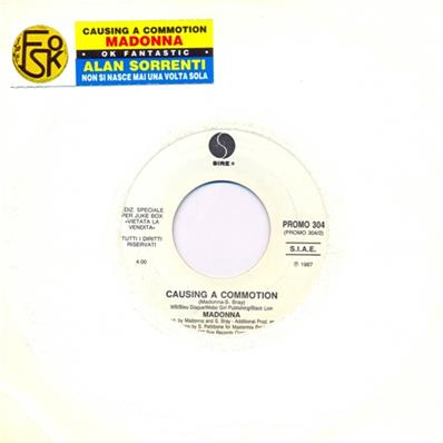 CAUSING A COMMOTION / 45T 7 INCH PROMO JUKE BOX ITALIE