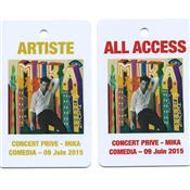 2 PASS CONCERT PRIVE / PASS ALL ACCESS + PASS ARTISTE / COMEDIA 2015