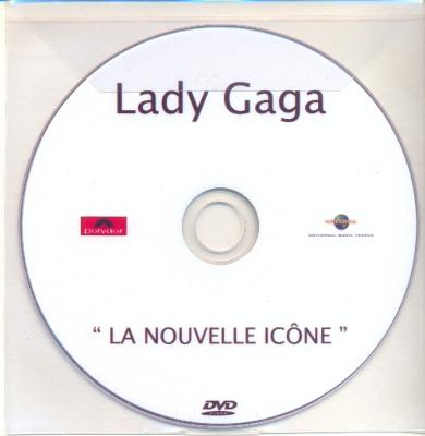 LADY GAGA / LA NOUVELLE ICONE / DVD SINGLE PROMO / FRANCE