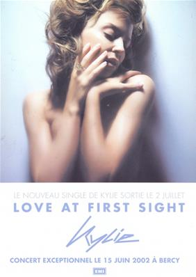 FLYER LOVE AT FIRST SIGHT / KYLIE  MINOGUE /  FRANCE