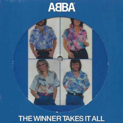 ABBA / THE WINNER TAKES IT ALL / 45 TOURS 17 CM PICTURE DISC / EUROPE 2020