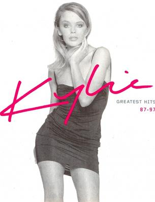FLYER STICKER GREATEST HITS 87 - 97 / KYLIE MINOGUE / FRANCE
