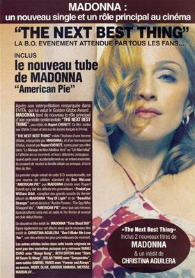 FLYER THE NEXT BEST THING / BON DE PRECO / FRANCE