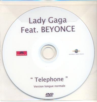 LADY GAGA + BEYONCE / TELEPHONE (3) / DVD SINGLE PROMO / FRANCE