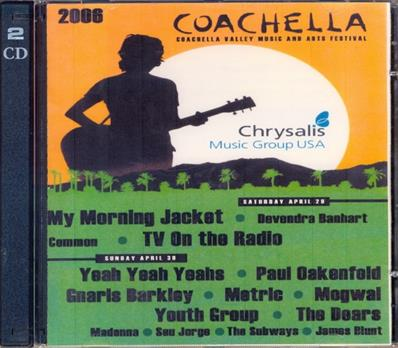 COMPIL COACHELLA CHRYSALIS / DOUBLE CD PROMO 2006 USA