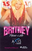 CARTE PLASTIQUE N°1 / BRITNEY SPEARS / PIECE OF ME / LAS VEGAS